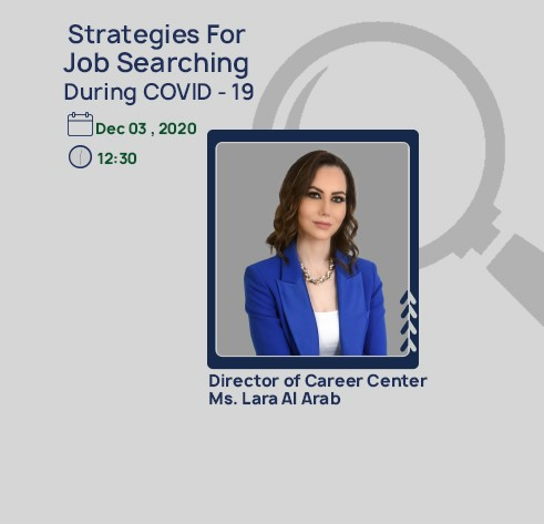 Webinar on Strategies for Job Searching During COVID-19