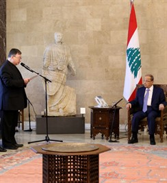 president-michel-aoun-meets-father-khalil-chalfoun-with-a-delegation