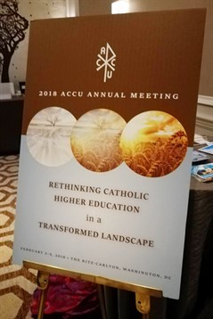 La Sagesse University participates in the annual meeting of ACCU, Washington