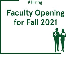Faculty Opening For 2021